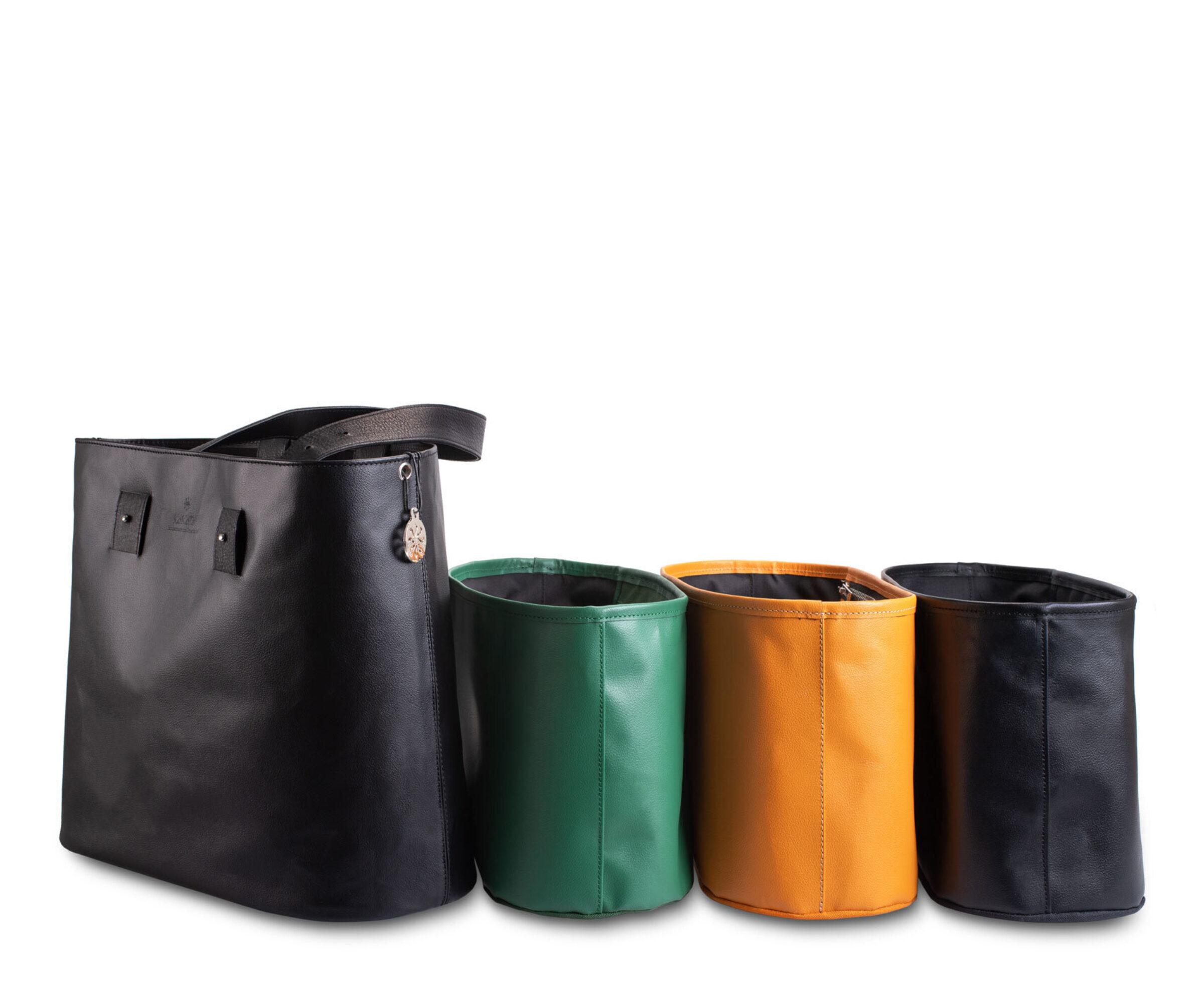 3 Diäner schwarz Innentaschen 3 Farben