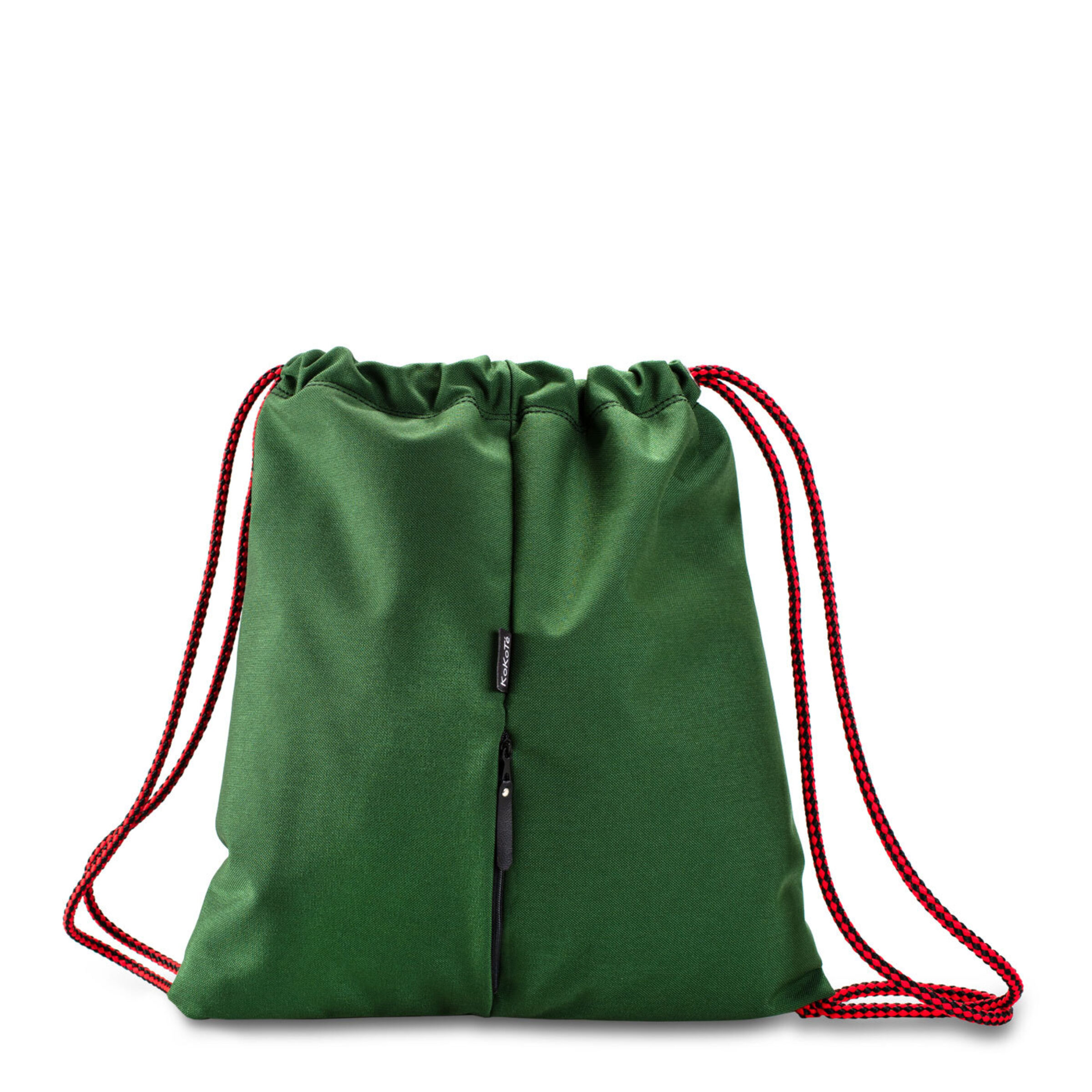 Gymbag grün rot hinten