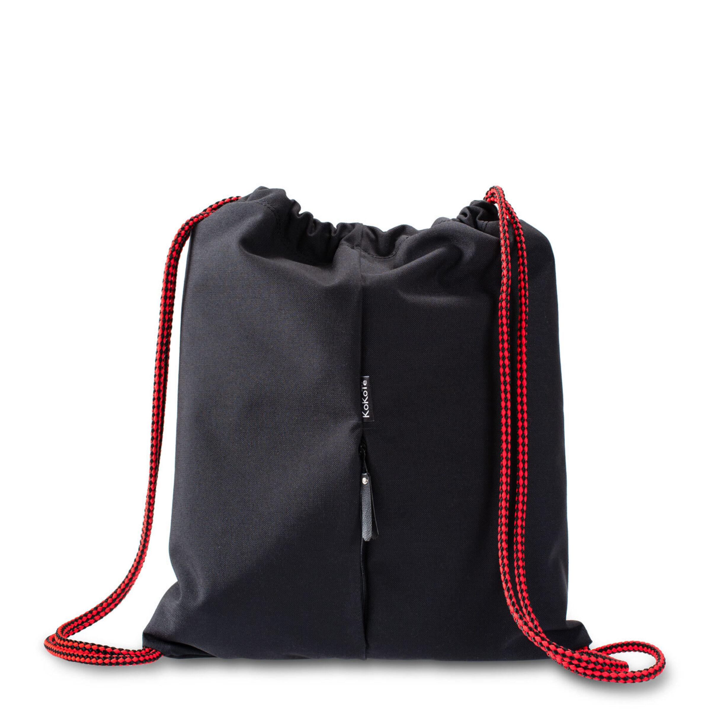 Gymbag schwarz rot hinten