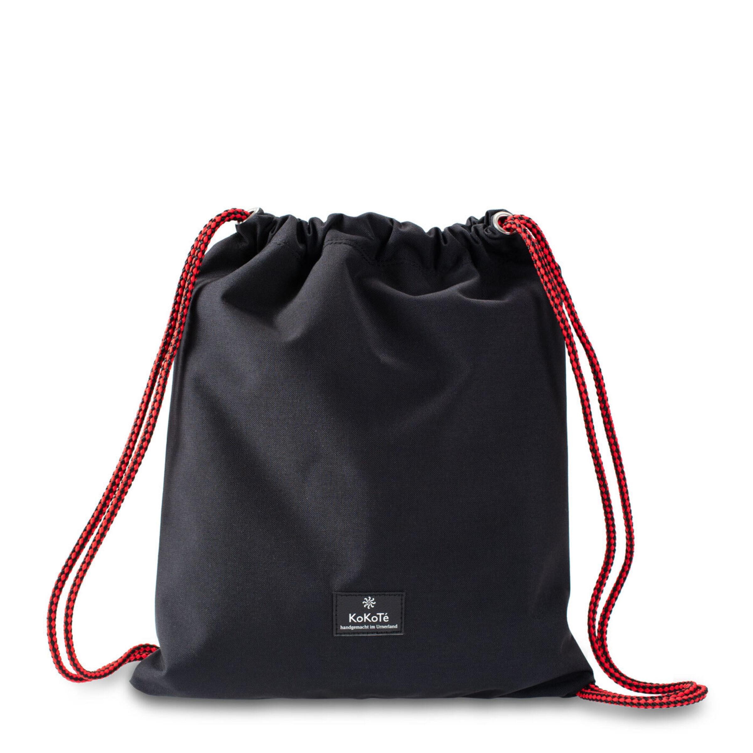 Gymbag schwarz rot vorne